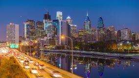 Horizonte de Philadelphia, Pennsylvania almacen de video