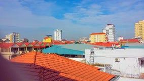 Horizonte de Phnom Penh Camboya imagen de archivo libre de regalías