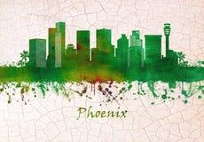 Horizonte de Phoenix Arizona stock de ilustración