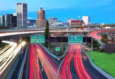 Horizonte de Portland Fotografía de archivo libre de regalías