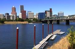 Horizonte de Portland O. y puerto deportivo de la línea de costa. Imágenes de archivo libres de regalías
