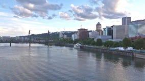 Horizonte de Portland, Oregon almacen de metraje de vídeo