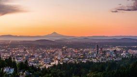 Horizonte de Portland, Oregon, los E.E.U.U.