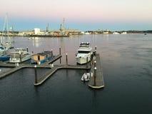Horizonte de Portsmouth Fotografía de archivo libre de regalías