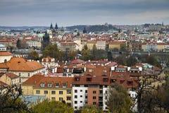 Horizonte de Praga Fotos de archivo libres de regalías