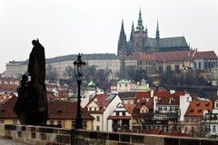 Horizonte de Praga Imagen de archivo libre de regalías