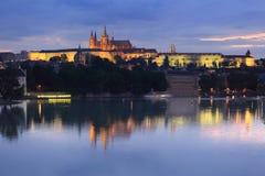 Horizonte de Praga Fotografía de archivo