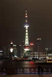 Horizonte de Pudong en la noche Fotografía de archivo libre de regalías