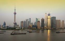 Horizonte de Pudong, Shangai Imágenes de archivo libres de regalías