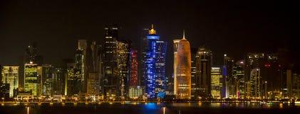 Horizonte de Qatar Fotografía de archivo libre de regalías
