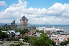 Horizonte de Quebec City Imagen de archivo libre de regalías