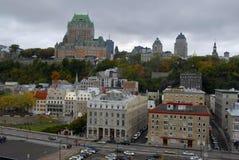 Horizonte de Quebec City Foto de archivo libre de regalías