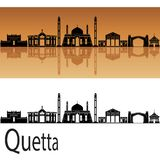 Horizonte de Quetta en fondo anaranjado imagen de archivo libre de regalías