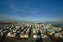Horizonte de Reykjavik Imagenes de archivo