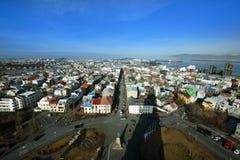 Horizonte de Reykjavik Fotos de archivo libres de regalías