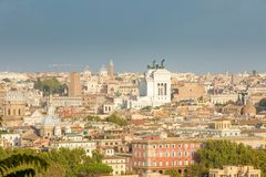 Horizonte de Roma Italia Foto de archivo libre de regalías