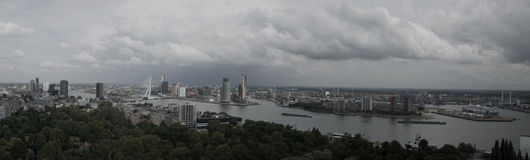 Horizonte de Rotterdam Foto de archivo libre de regalías