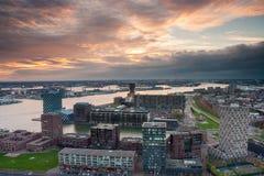 Horizonte de Rotterdam Fotografía de archivo libre de regalías