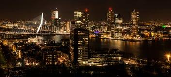 Horizonte de Rotterdam Fotos de archivo libres de regalías