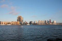 Horizonte de Rotterdam, los Países Bajos Imágenes de archivo libres de regalías