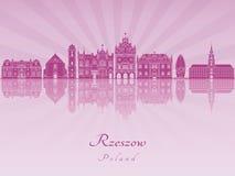 Horizonte de Rzeszow en orquídea radiante púrpura Fotos de archivo