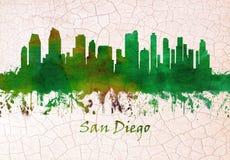 Horizonte de San Diego California stock de ilustración