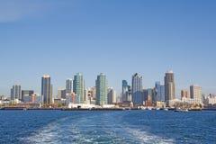 Horizonte de San Diego del agua Foto de archivo