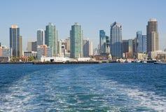 Horizonte de San Diego del agua Imagenes de archivo
