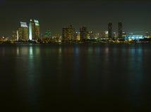 Horizonte de San Diego en la noche Imagenes de archivo