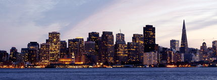 Horizonte de San Francisco Fotos de archivo libres de regalías