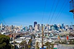 Horizonte de San Francisco de la colina Fotografía de archivo