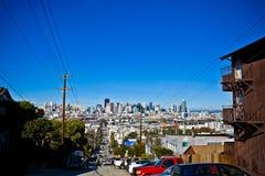 Horizonte de San Francisco de la colina Imagen de archivo