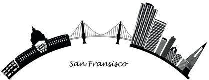 Horizonte de San Fransisco ilustración del vector