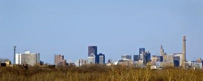 Horizonte de San Pablo, Minnesota Fotografía de archivo libre de regalías