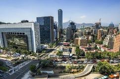 Horizonte de Santiago Foto de archivo