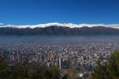 Horizonte de Santiago Fotos de archivo libres de regalías
