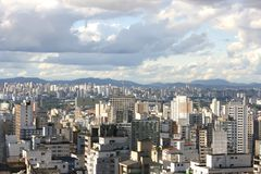 Horizonte de Sao Paulo Imagen de archivo libre de regalías