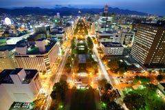 Horizonte de Sapporo Fotografía de archivo