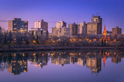 Horizonte de Saskatoon Imagenes de archivo