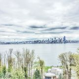 Horizonte de Seattle Fotografía de archivo
