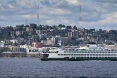 Horizonte de Seattle fotos de archivo libres de regalías