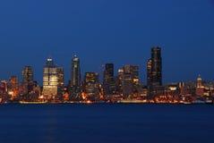 Horizonte de Seattle imagen de archivo libre de regalías