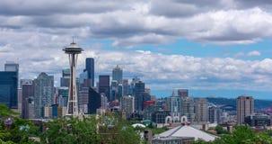 Horizonte de Seattle panorámico almacen de video