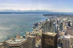 Horizonte de Seattle Vista aérea de Seattle fotos de archivo libres de regalías