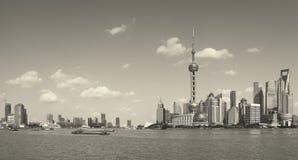Horizonte de Shangai Fotos de archivo