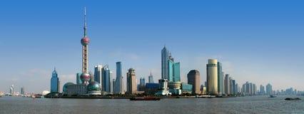 Horizonte de Shangai Imágenes de archivo libres de regalías