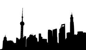 Horizonte de Shangai Fotografía de archivo