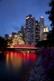Horizonte de Singapur Imagen de archivo libre de regalías