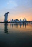 Horizonte de Singapur. Imágenes de archivo libres de regalías