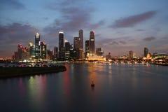Horizonte de Singapur Fotos de archivo libres de regalías